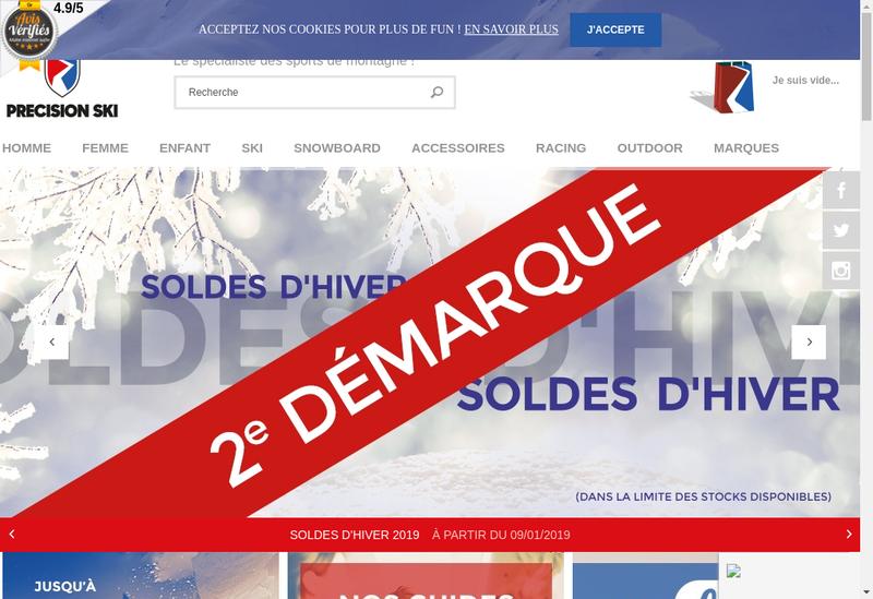 Capture d'écran du site de E-Precisionsport Fr