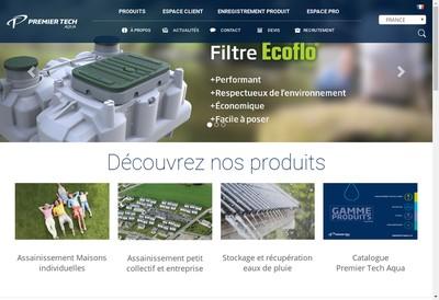 Site internet de Premier Tech Aqua