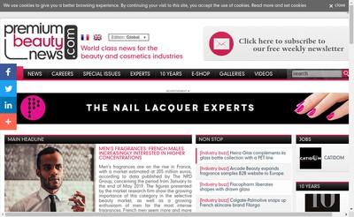 Site internet de Premium Beauty Media
