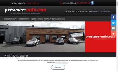 Site internet de Presence Auto