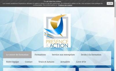 Site internet de Presence & Action