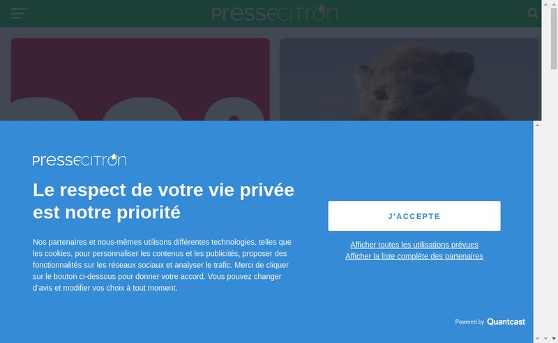 Capture d'écran du site de Bloobox-Net
