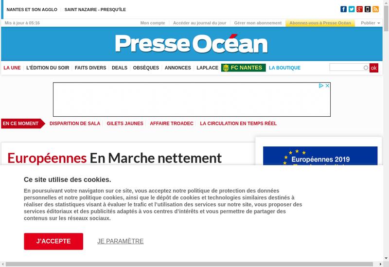 Capture d'écran du site de Societe Edition Resistance & Presse Ouest