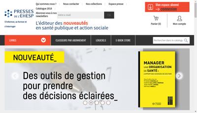 Capture d'écran du site de Presses de l'Ehesp
