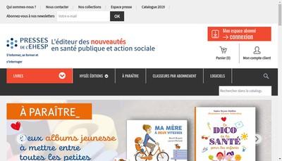 Site internet de Presses de l'Ehesp