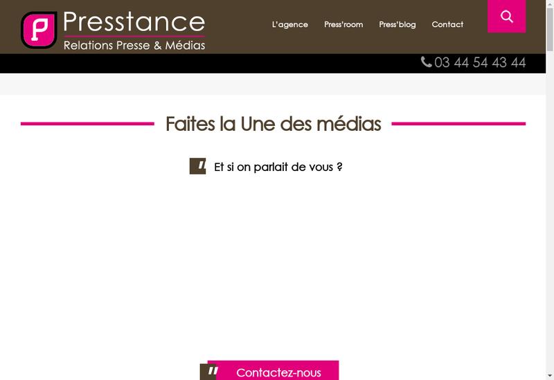 Capture d'écran du site de Vm Communication