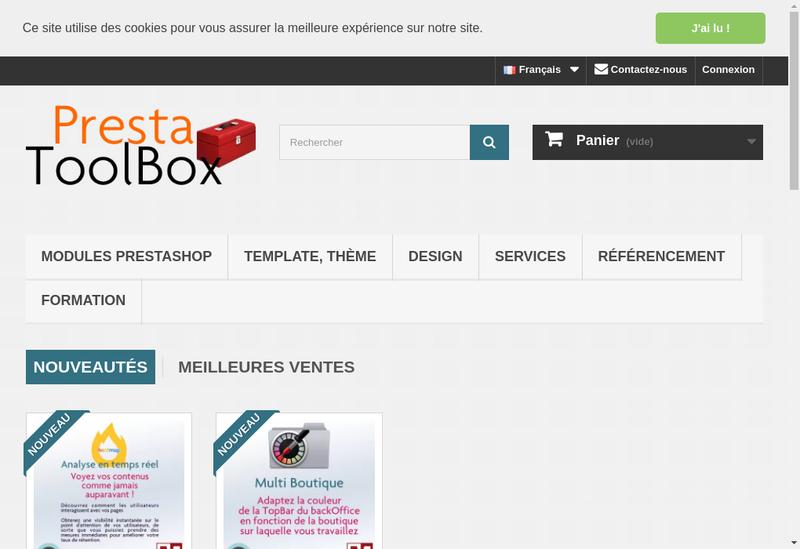 Capture d'écran du site de Mediacom87