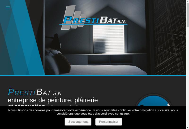 Capture d'écran du site de Societe Nouvelle Prestibat