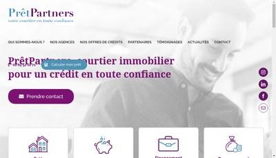 Site internet de Pret Partners