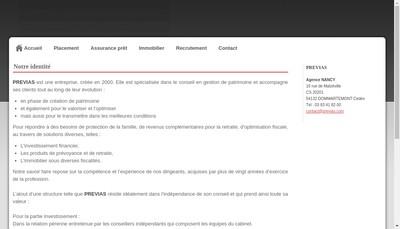 Site internet de Previas