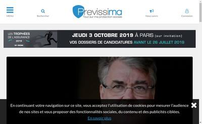 Site internet de Previssima