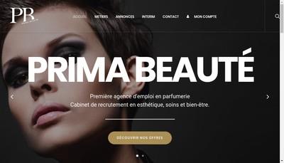 Site internet de Prima Beaute