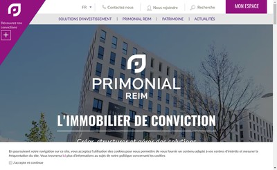 Site internet de PRIMONIAL REIM