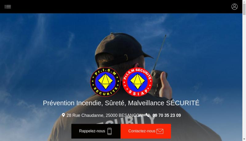Capture d'écran du site de Prev Incendie Surete Malveillance Sec