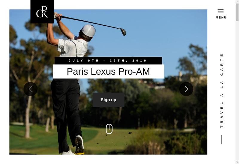 Capture d'écran du site de Private Golf Key