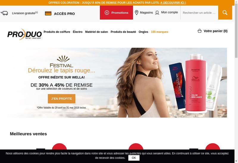 Capture d'écran du site de Pro-Duo France