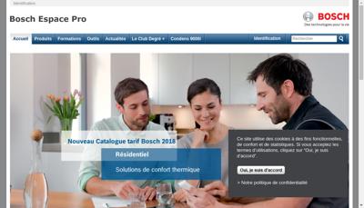 Capture d'écran du site de Elm Leblanc SAS