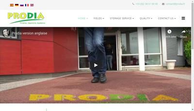 Site internet de Fleury Logistique