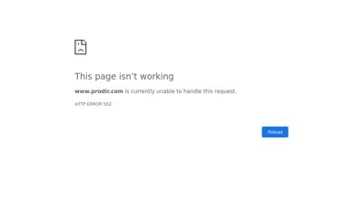 Capture d'écran du site de Prodir France