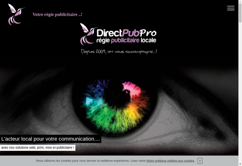 Capture d'écran du site de Direct'Pub PRO