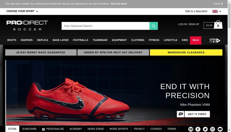 Capture d'écran du site de Pro Direct Services