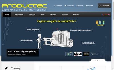 Site internet de Productec