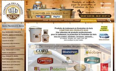 Site internet de Comptoir des Produits Bois