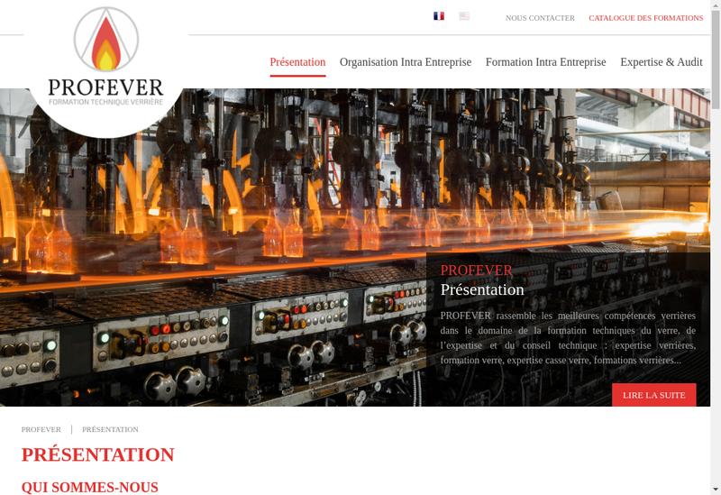 Capture d'écran du site de Profever