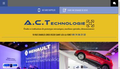 Capture d'écran du site de Societe Act