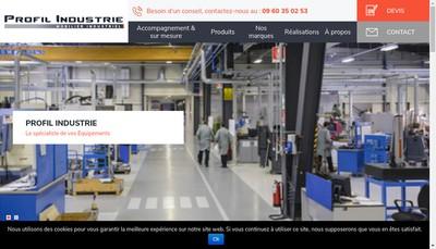 Site internet de Profil Industrie - Profil Telecom
