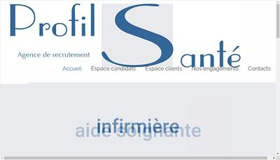 Site internet de Profils Sante
