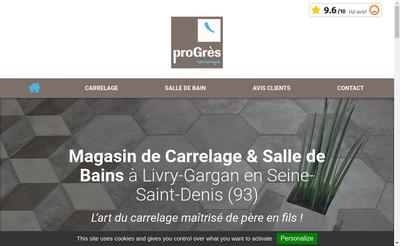 Site internet de Progres Ceramique