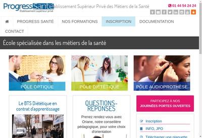 Site internet de Progress Sante
