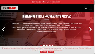 Site internet de Promac