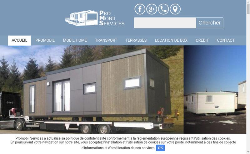 Capture d'écran du site de Promobil Services