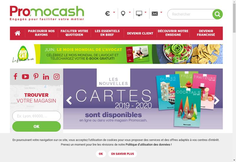 Capture d'écran du site de Valcash