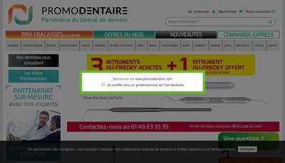 Site internet de Www Promodentaire