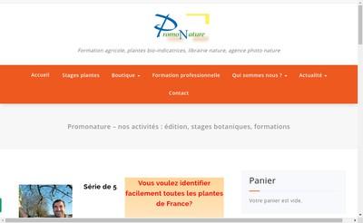Site internet de Promonature