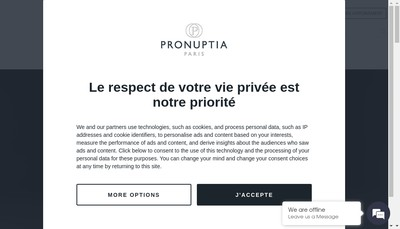 Site internet de Pronuptia