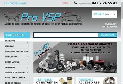 Site internet de Pro Vsp