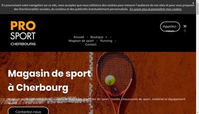 Site internet de Prosport Cherbourg