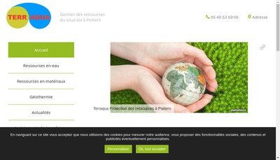 Site internet de Terraqua