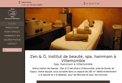 Capture d'écran du site de New Evasion