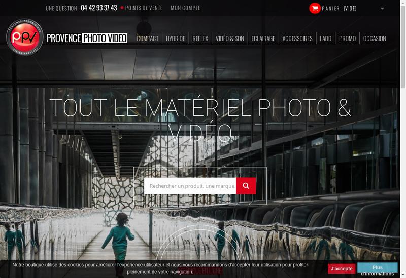 Capture d'écran du site de Provence Photo Video