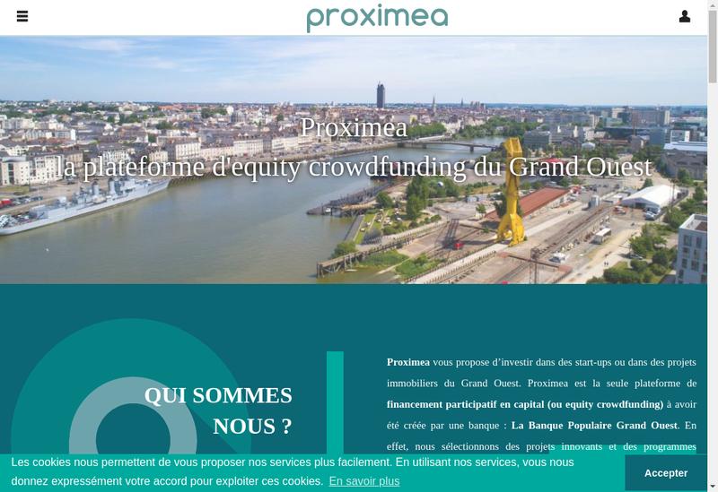 Capture d'écran du site de Proximea