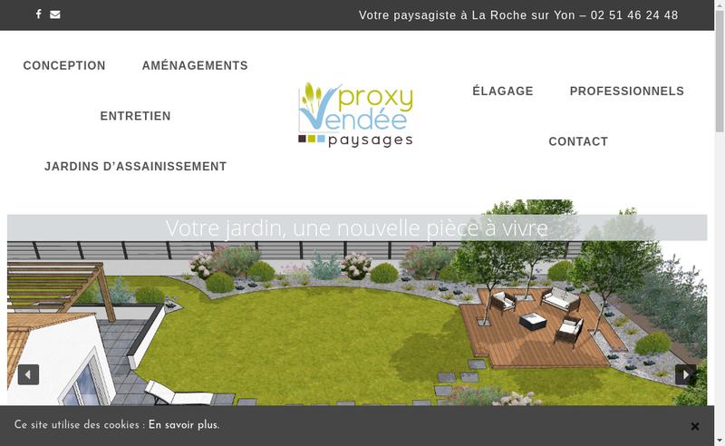 Capture d'écran du site de Proxy Vendee Paysages