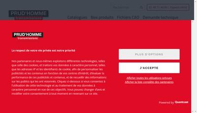 Site internet de Prud'Homme Transmissions