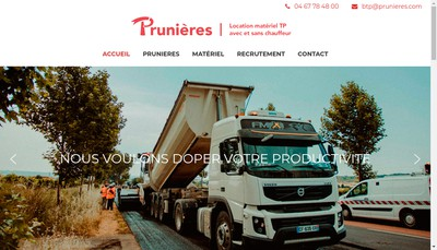 Site internet de SARL Transports Prunieres