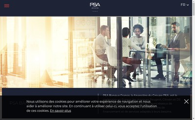 Site internet de Psa Banque France