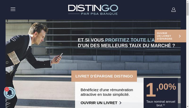 Capture d'écran du site de Psa Banque France